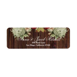 Vintage Floral Wood Look Address Lables