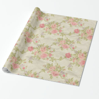 Vintage Floral Gift Wrapping Paper