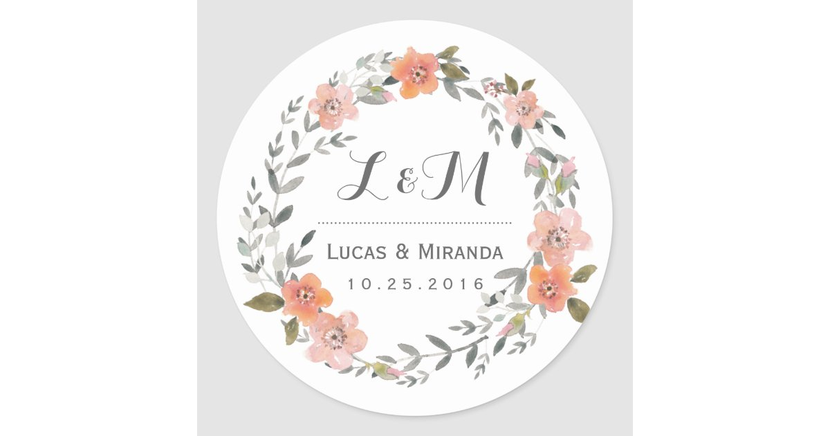 Sticker for wedding
