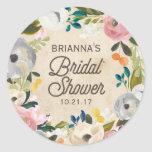 Vintage Florals | Bridal Shower Sticker
