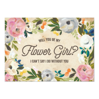 Vintage Florals | Flower Girl Card