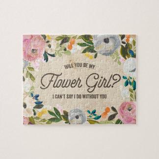 Vintage Florals | Flower Girl Puzzle