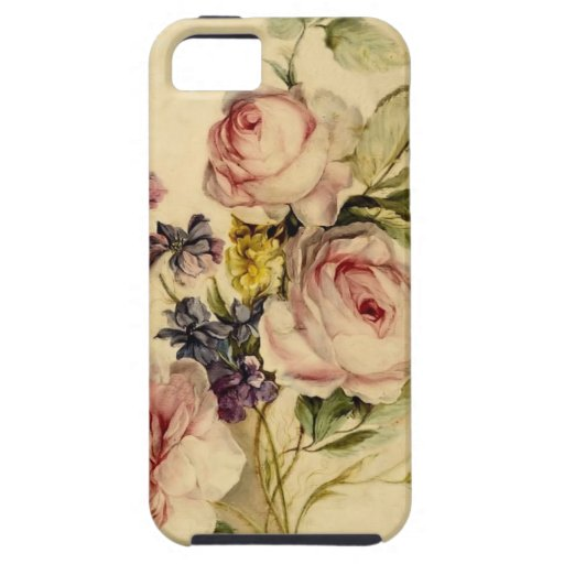 Vintage Florals from 18th Century iPhone 5 Covers