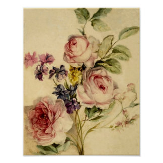 Vintage Florals from 18th Century Poster