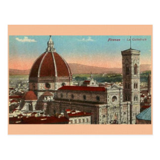 Vintage Florence Italy Cathedral Postcard