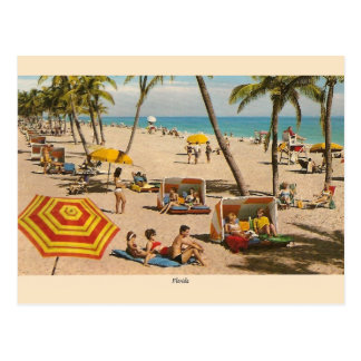 Vintage Florida Beach Travel Post Card