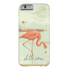 Vintage Florida Flamingo Postcard Phone Case