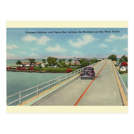 Vintage Florida Keys Highway Postcard