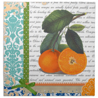 Vintage Florida Orange Fruit dining napkins