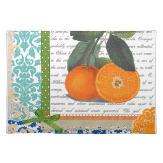 Vintage Florida Orange Fruit eating placemats