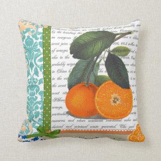 Vintage Florida Orange Fruit kitchen pillow