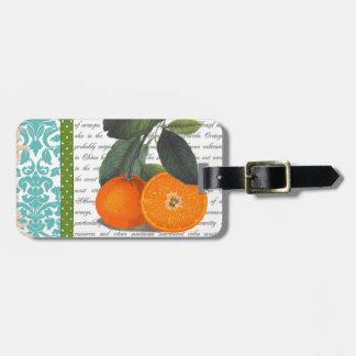 Vintage Florida Orange Fruit luggage tag