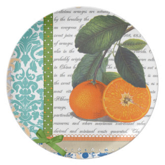 Vintage Florida Orange Fruit plate