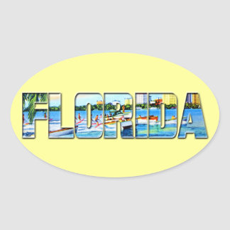 Vintage Florida Oval Sticker