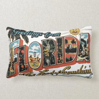 Vintage Florida The Sunshine State Postcard Cushion