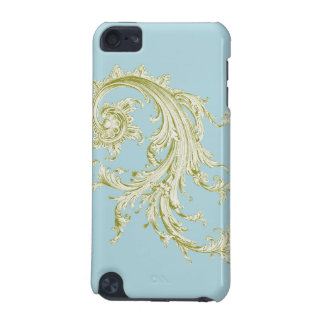 Vintage Flourish in green iPod Touch (5th Generation) Cover