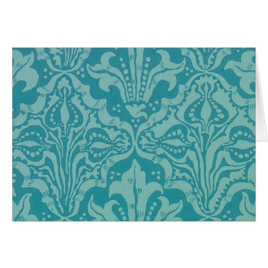 Vintage Flower and Seed Wallpaper Pattern Card