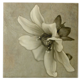 Vintage Flower - Art Tile