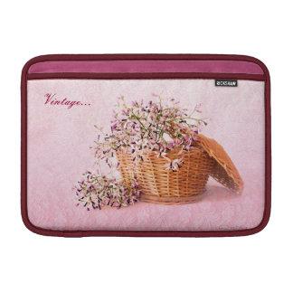 """Vintage Flower Basket Macbook Air 11"""" Horizontal Sleeves For MacBook Air"""