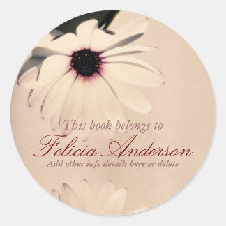 Vintage Flower Bookplate Sticker
