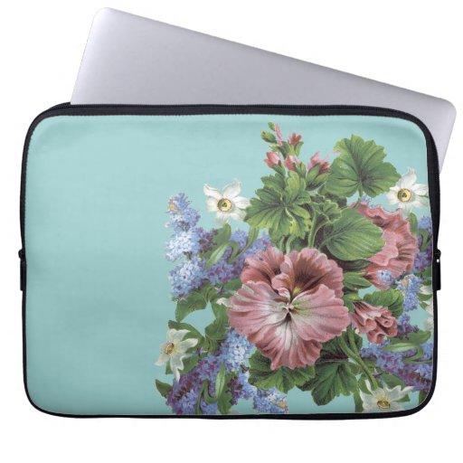 Vintage Flower Bouquet Computer Sleeves
