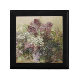 Vintage Flower Bouquet Small Square Gift Box