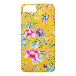 Vintage Flower Garden Rainbow Butterfly  YELLOW iPhone 8/7 Case
