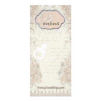 Vintage Flower Girl Pacifier Display Card 10 Cm X 23 Cm Rack Card