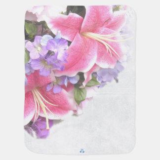 Vintage Flower Lily Baby Blanket