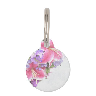 Vintage Flower Lily Pet Tags