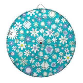Vintage Flower Pattern Design Dartboards