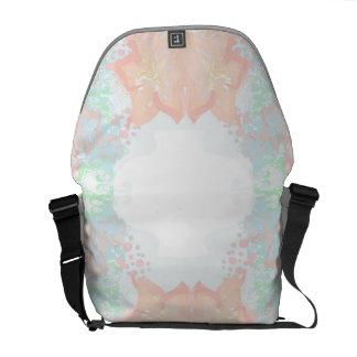 vintage flower pattern Rickshaw Messenger Bag