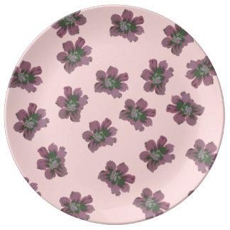 Vintage Flower Porcelain Plate
