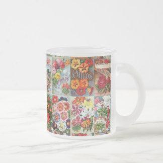 Vintage Flower Seed Packets Garden Collage Mug