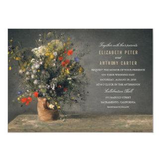 Vintage Flower Vase Unique Creative Wedding 13 Cm X 18 Cm Invitation Card