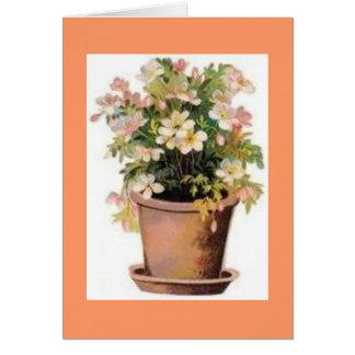 Vintage Flowerpot Notes Note Card