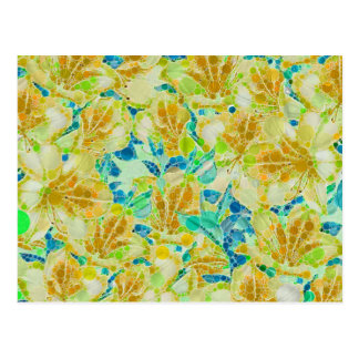 Vintage Flowers Abstract Pattern Postcard