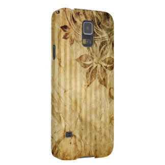 vintage flowers and stripes galaxy s5 cover