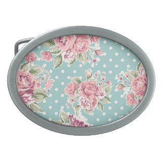 Vintage flowers belt buckle