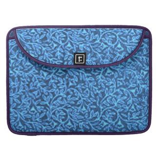 Vintage Flowers Blue Macbook Pro Flap Sleeve MacBook Pro Sleeve