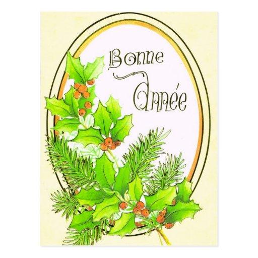 Vintage  Flowers, Bonne Anneè Postcards