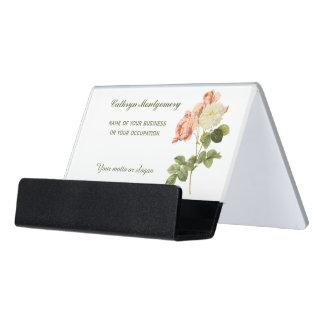 Vintage Flowers custom desk business card holder