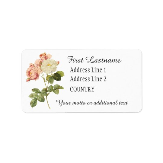 Vintage Flowers custom labels 2
