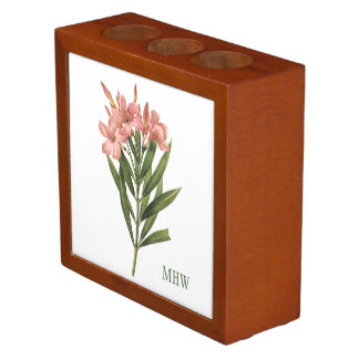 Vintage Flowers custom monogram desk organizer 3