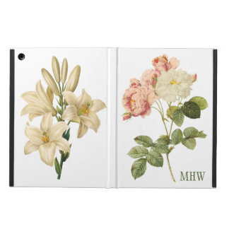 Vintage Flowers custom monogram device cases