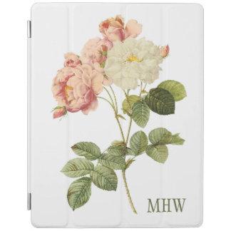 Vintage Flowers custom monogram device covers 2 iPad Cover