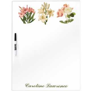 Vintage Flowers custom monogram message board 4
