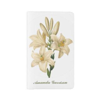 Vintage Flowers custom monogram notebooks