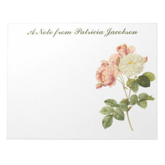 Vintage Flowers custom monogram notepads 2