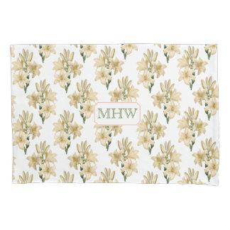 Vintage Flowers custom monogram pillow case 1